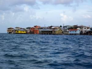Vista de la isla de Guanaja