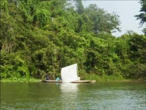 Pescadores en la laguna de Caratasca