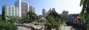 Vista del parque central de San Pedro Sula